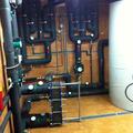 Sala de calderas y Caldera de biomasa