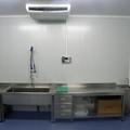 Sala de preparaciones climatizada.