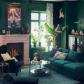Salón clásico con sofá VIMLE de IKEA.es