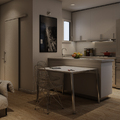 Salón/comedor con cocina integrada.