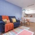Salón con cocina office