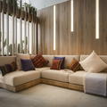 salón con madera