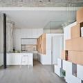 salón con mobiliario modular