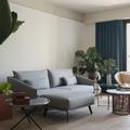 salón con mobiliario nórdico mid-century