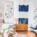 Salón con mobiliario vintage