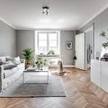 Salón con paredes en gris