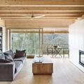 salón con persianas