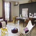 salón en negro con morado