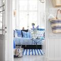 salón en tones azules