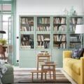 Salón IKEA con soluciones de almacenaje modulares