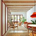 Salón luminoso con terraza