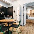 Salón mini apartamento negro
