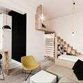 salón pequeño con cocina integrada