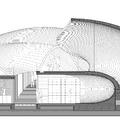 Sección principal por pabellón de acceso