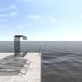 Simulación frente a piscina infinita