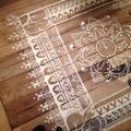 Suelos de madera con plantilla