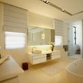 Baño espacioso color crema
