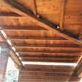 Techo de madera en porche