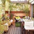 terraza con celosía