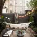 terraza con hamaca