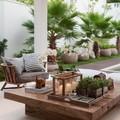 Terraza con muchas plantas