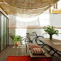 terraza eluminosa en patio de manzana