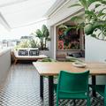 terraza estilo tropical