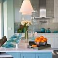 decoración color azul