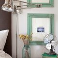 ventilador vintage en dormitorio