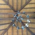 Vigas de madera con tablas