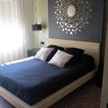 Vista cama y panel