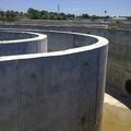 Vista de muros arqueta de recirculación.