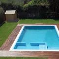 Vista de pájaro de la piscina