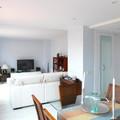 Vista de salón, comedor y entrada