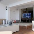 vista desde jardin secuencia TV giratoria