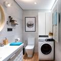 Vista inodoro y lavadora