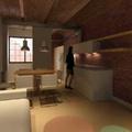 Imagen virtual del interior proyectado del loft.