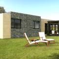 Vista trasera de la Casa Cube de 150 m2