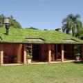vivienda ecológica con cesped como aislante térmico