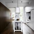 zona de paso cocina blanca