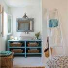 baño blanco y azul