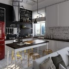 cocina con electrodomésticos Smeg