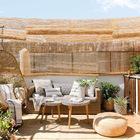 Jardín con fibras narturales