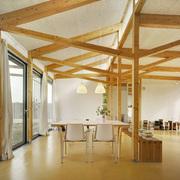Salón estructura madera