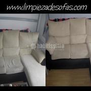 Limpieza de sofás con chaise longue