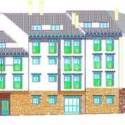 Proyectos de ejecución y legalización de instalaciones de edificio de 19 viviendas y garaje en Nogueruelas (Teruel).