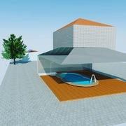 3D de Instalacion Solar Termica para Acs+calefacción y climatización de piscina.