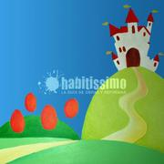 Mural infantil princesa y sapo