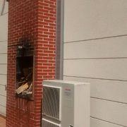 Instalación de Aerotermia en sustitución de acumuladores eléctricos
