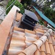 Ampliación muro fachada y construcción nueva pérgola a cuatro aguas y barbacoa (en proceso)